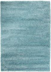 HIMALAYA Area Rug Shaggy 5cm Long Pile One Colour Plain Blue