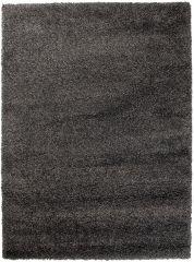 HIMALAYA Area Rug Shaggy 5cm Long Pile One Colour Plain Black