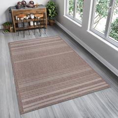 FLOORLUX Teppich Flachgewebe Modern Sisal Beige Streifen