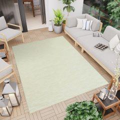 Terazza Teppich Sisal Modern Creme Grün Karo Design
