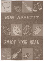 FLOORLUX Vloerkleed Tapijt Bruin Bon Appetit Sfeervol Design