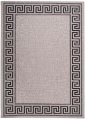 FLOORLUX Vloerkleed Tapijt Antraciet Zwart Grijs Frame Duurzaam Design