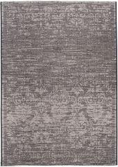 FLOORLUX Vloerkleed Tapijt Grijs Abstract Bloemenprint Design