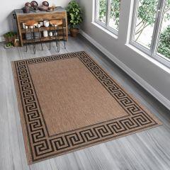 FLOORLUX Area Rug Greek Frame Natural Kitchen Durable Carpet