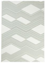 JUNGLE Teppich Sisal Outdoor Flachgewebe Modern Creme Grün Terrasse