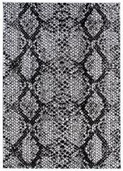 DREAM Teppich Modern Kurzflor Schwarz Grau Schlange Design