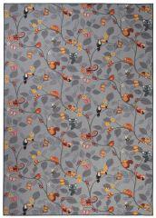 NINO Area Rug Children Room Bedroom Play Mat Happy Tree Grey