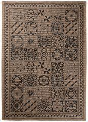 FLOORLUX Vloerkleed Tapijt Bruin Mozaiek Duurzaam Hoogwaardig
