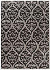 FLOORLUX Vloerkleed Tapijt Zwart Mozaiek Cirkel Duurzaam Hoogwaardig