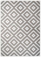 FIRE Area Rug Modern Contemporary Geometric Diamond Grey White