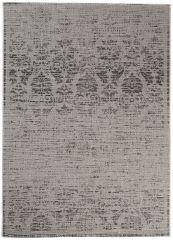 FLOORLUX Vloerkleed Tapijt Grijs Abstract Bloemenprint Design Uitstraling