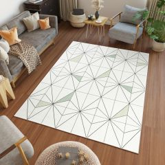 Jungle Tappeto Sisal Geometrico Moderno Bianco A Diamante