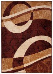 DREAM Teppich Modern Kurzflor Braun Beige Meliert Streifen