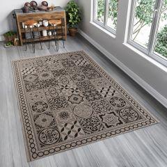 FLOORLUX Teppich Sisal Flachgewebe Grau Marokkanisch Mosaik