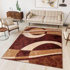 DREAM Vloerkleed Bruin Modern Geometrische Vormen Interieur