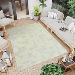 Terazza Teppich Flachgewebe Sisal Modern Grau Grün Creme