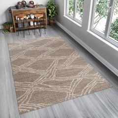 FLOORLUX Sisal Area Rug Abstract Fume Beige Modern Durable Carpet