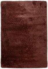 Silk Teppich Shaggy Hochflor Modern Einfarbig Dunkelbraun