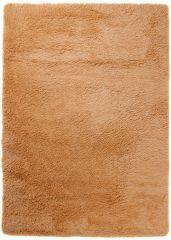 Silk Teppich Shaggy Hochflor Modern Einfarbig Beige Orange