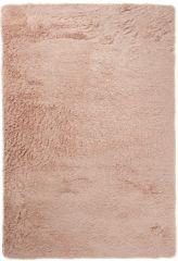 Silk Teppich Shaggy Hochflor Modern Einfarbig Hellbraun