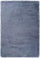 Silk Teppich Shaggy Hochflor Modern Einfarbig Dunkelgrau