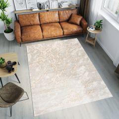 TANGO Teppich Modern Kurzflor Beige Creme Abstrakt Design Meliert