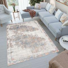 VENEZIA Teppich Kurzflor Modern Mehrfarbig Vintage Look Wohnzimmer