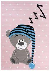 PINKY Area Rug Children Room Bedroom Play Mat Teddy Bear Pink