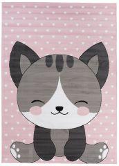 PINKY Area Rug Children Room Bedroom Play Mat Cat Pink
