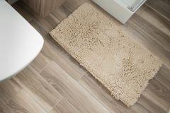 CHENILLE Non-Slip Bathroom Bath Shower Washable Mat 1PC Cream 60 x 100 cm (2ft x 3ft3