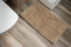 CHENILLE Non-Slip Bathroom Bath Shower Washable Mat 1PC Beige 60 x 100 cm (2ft x 3ft3