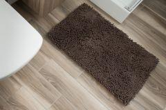 CHENILLE Non-Slip Bathroom Bath Shower Washable Mat 1PC Brown 60 x 100 cm (2ft x 3ft3