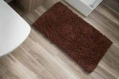 CHENILLE Non-Slip Bathroom Bath Shower Washable Mat 1PC Bronze 60 x 100 cm (2ft x 3ft3
