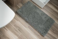 CHENILLE Non-Slip Bathroom Bath Shower Washable Mat 1PC Grey 60 x 100 cm (2ft x 3ft3