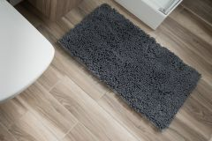 CHENILLE Non-Slip Bathroom Bath Shower Washable Mat 1PC Dark Grey 60 x 100 cm (2ft x 3ft3