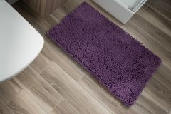 CHENILLE Non-Slip Bathroom Bath Shower Washable Mat 1PC Purple 60 x 100 cm (2ft x 3ft3