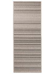 FLOORLUX Tapis de Passage Moderne Rayures Argent Noir