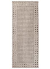 FLOORLUX Tapis de Passage Moderne Bordé Argent Noir Résistant