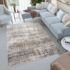FEYRUZ Designer 3D Area Rug Transitional Vintage Abstract Grey