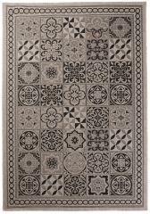 FLOORLUX Vloerkleed Tapijt Grijs Mozaiek Duurzaam Hoogwaardig