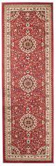 Atlas Teppich Läufer Klassisch Rot Creme Floral Design