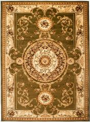 YESEMEK Area Rug Short Pile Traditional Decorative Ornament Green