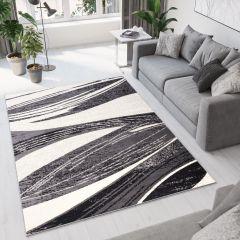 DREAM Vloerkleed Donkergrijs Lijnen Abstract Design Sfeervol