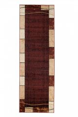 DREAM Carpet Runner Modern Frame Rectangle Hallway Brown Beige