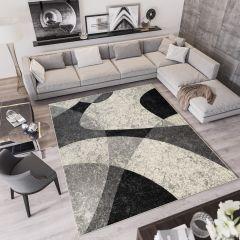 QMEGA Vloerkleed Creme Grijs Design Modern Interieur Duurzaam