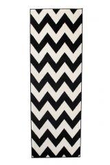 MAROKO Loper Zwart Wit Zigzag Interieur Duurzaam Praktisch Design