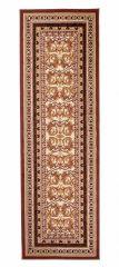 Atlas Teppich Läufer Klassisch Braun Creme Floral Design