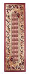 Atlas Teppich Läufer Rot Beige Karo Floral Design Modern