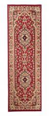 Atlas Teppich Läufer Klassisch Rot Beige Floral Design