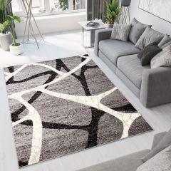 DREAM Vloerkleed Grijs Wit Abstract Lijnen Modern Geometrisch
